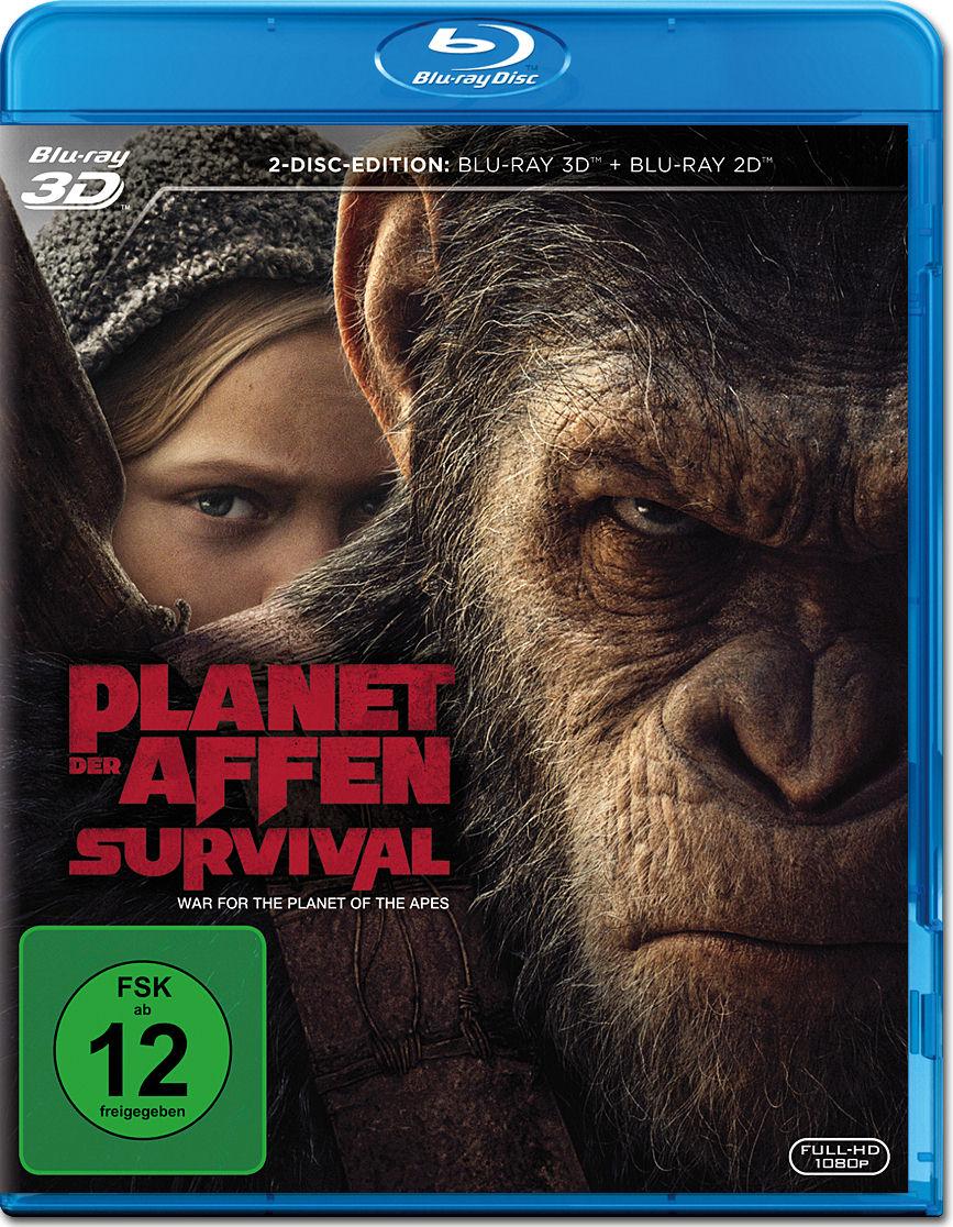 Planet Der Affen Survival Blu Ray 3D 2 Discs Blu Ray