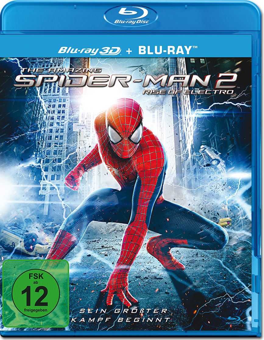 the amazing spider man 2 blu ray 3d blu ray 3d filme world of games. Black Bedroom Furniture Sets. Home Design Ideas