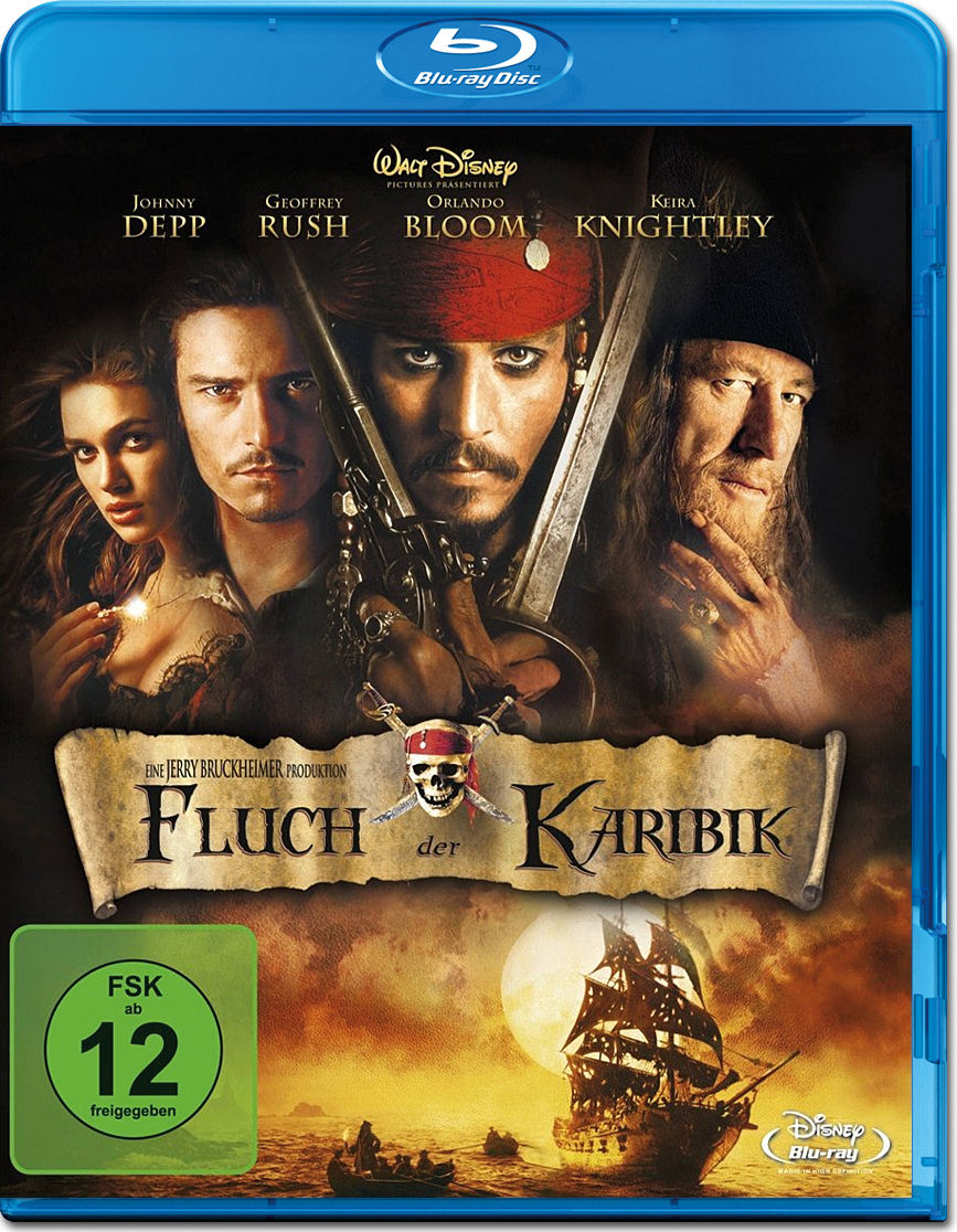 pirates of the caribbean fluch der karibik blu ray blu. Black Bedroom Furniture Sets. Home Design Ideas