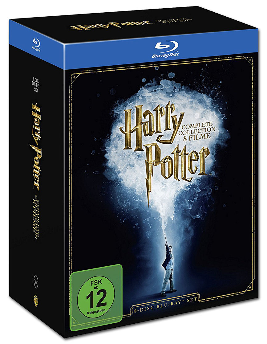 Harry potter complete collection blu ray 8 discs blu for Sejour complet harry potter