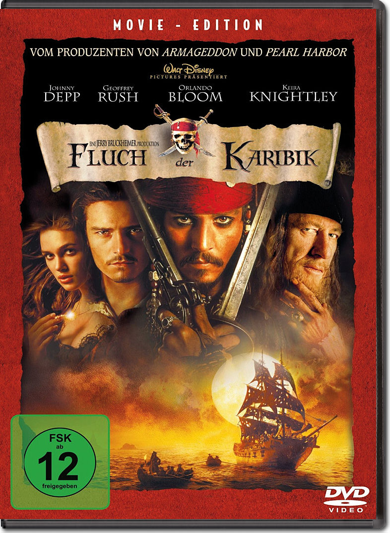 pirates of the caribbean fluch der karibik dvd filme. Black Bedroom Furniture Sets. Home Design Ideas