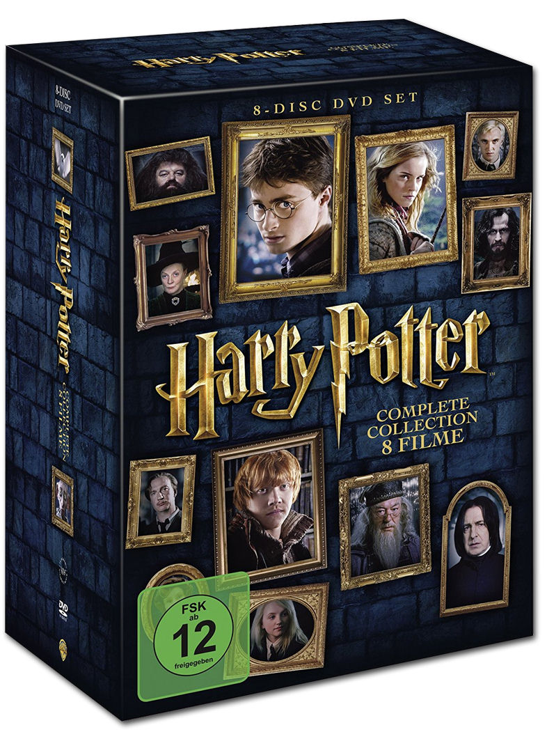Harry potter complete collection 8 dvds dvd filme for Sejour complet harry potter