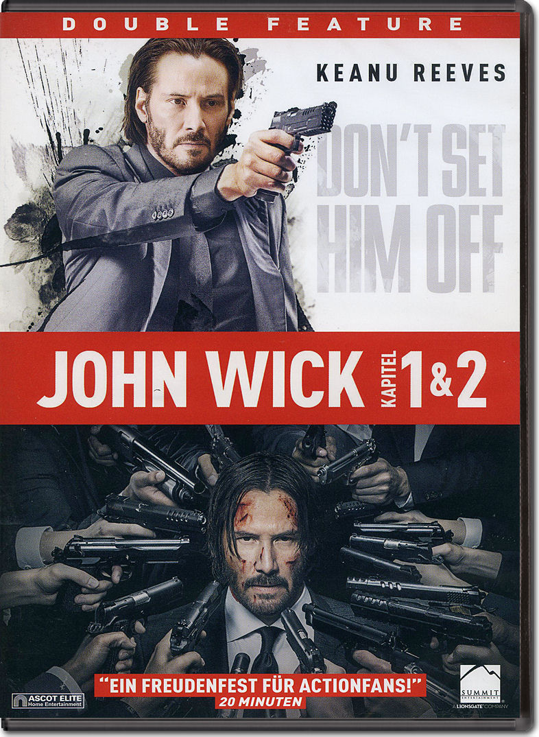 John Wick 1+2 (2 DVDs) [DVD Filme]