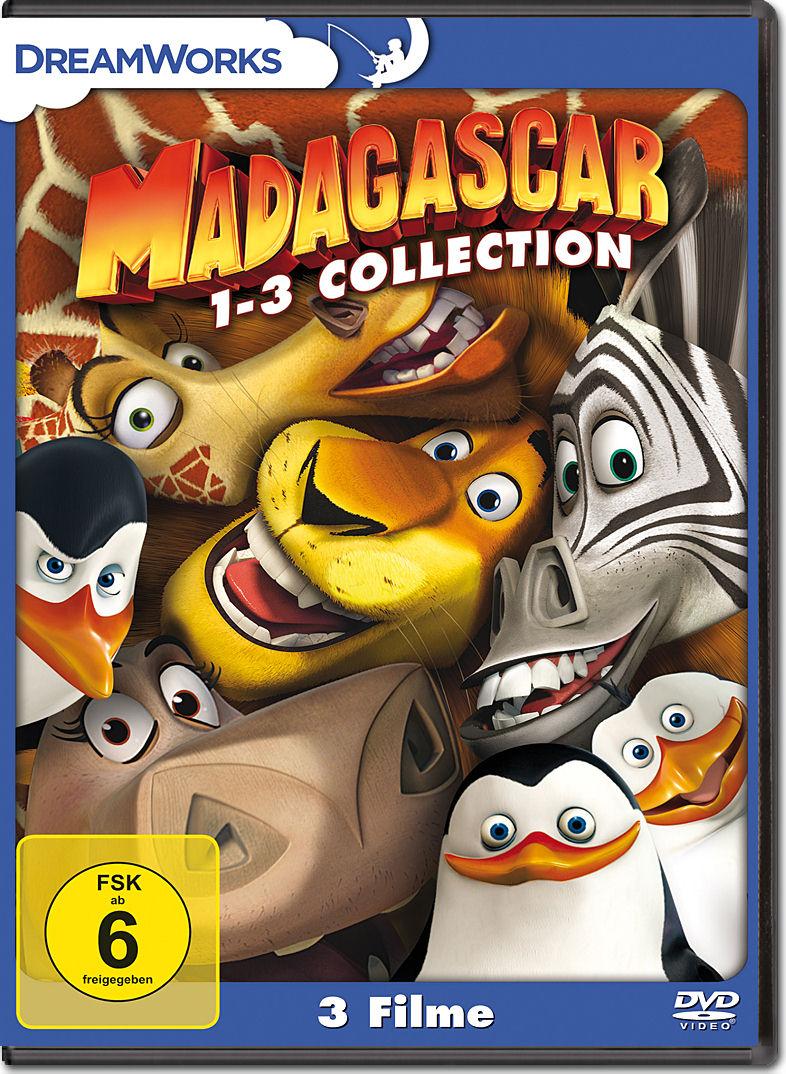 Madagascar 1-3 Collection (3 DVDs) [DVD Filme] • World of Games