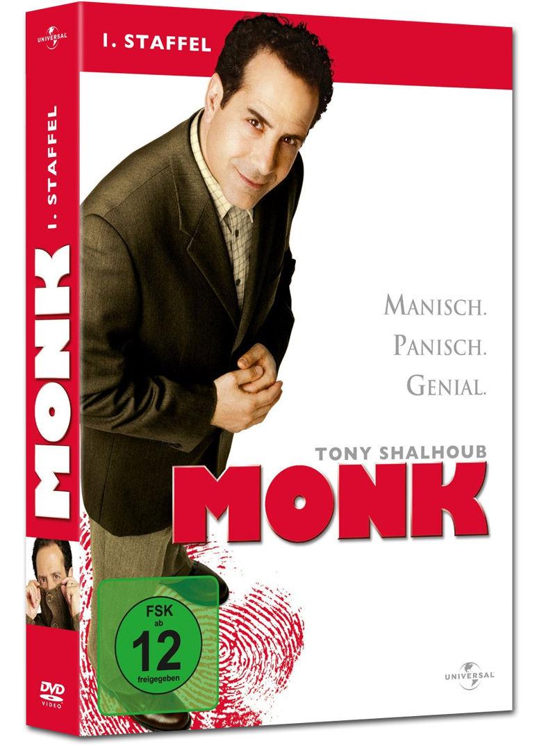 monk staffel 1 4 dvds dvd filme world of games. Black Bedroom Furniture Sets. Home Design Ideas