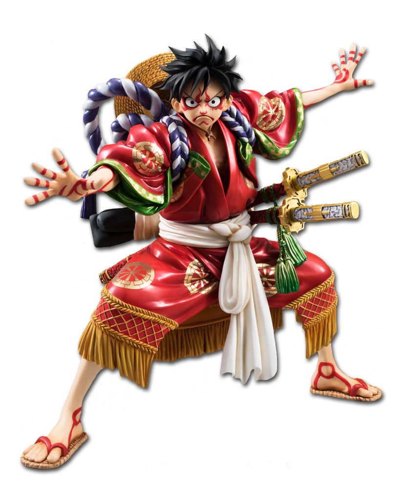 D Exhibition One Piece : One piece monkey d ruffy kabuki edition figuren