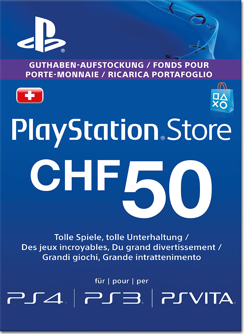playstation store guthaben chf 50 sony playstation 3 world of games. Black Bedroom Furniture Sets. Home Design Ideas