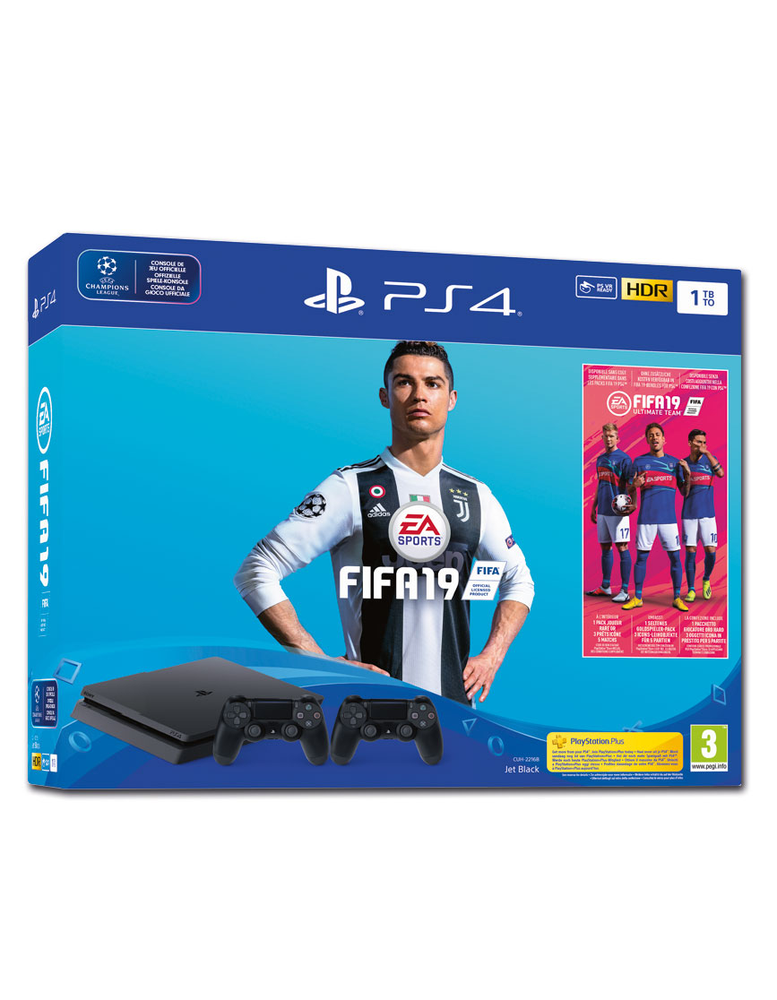 Sony Playstation 4 Slim 1 Tb Fifa 19 Set Black Cuh 2016b