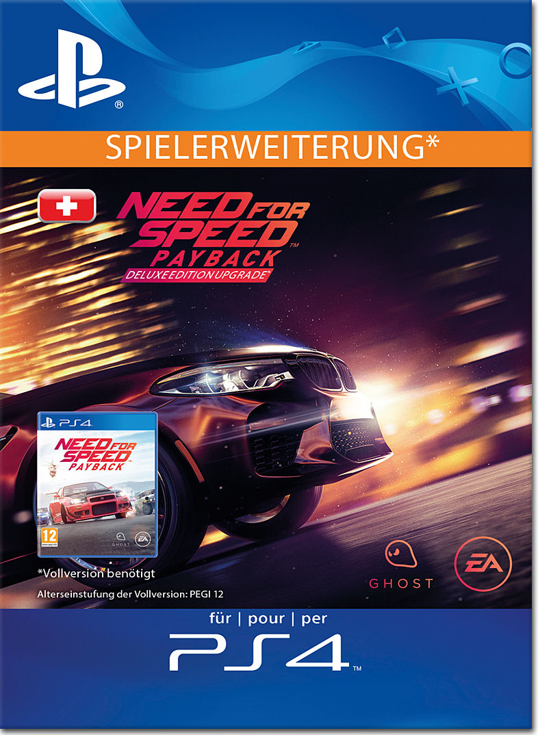 need for speed payback deluxe edition upgrade playstation 4 digital world of games. Black Bedroom Furniture Sets. Home Design Ideas