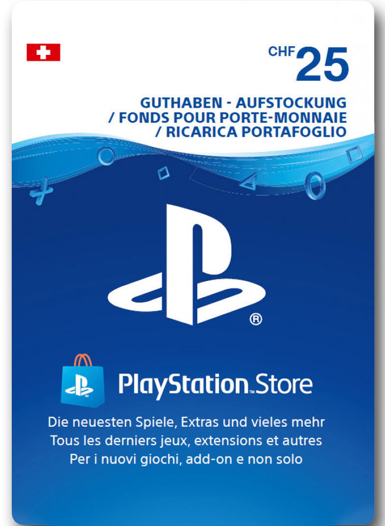 Playstation Karte Aufladen.Playstation Store Guthaben Chf 25 Sony
