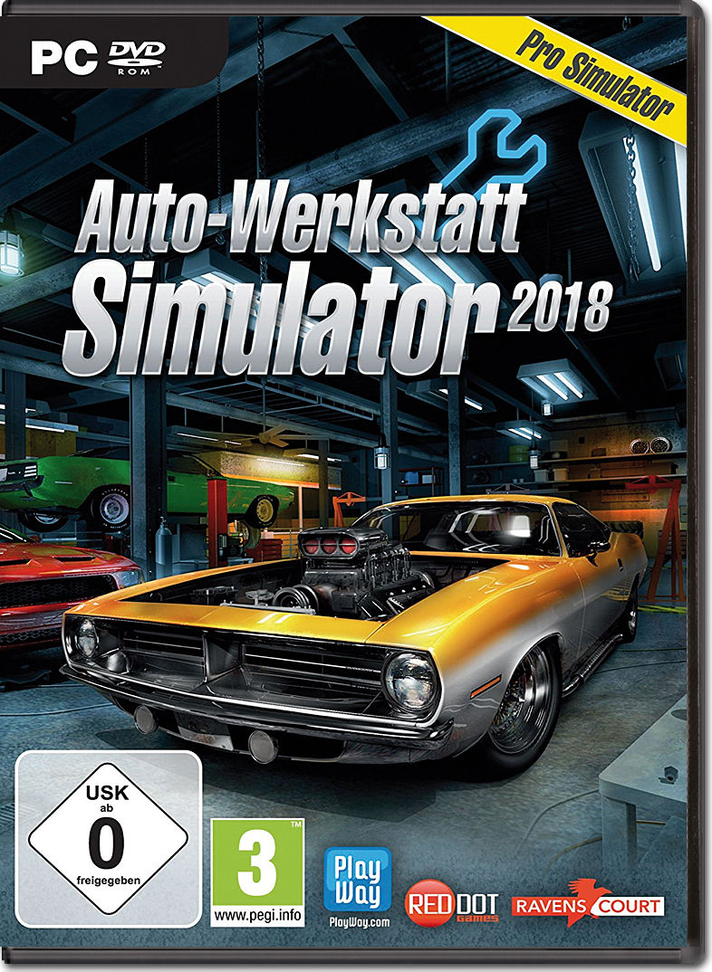 auto werkstatt simulator 2018 pc games world of games. Black Bedroom Furniture Sets. Home Design Ideas