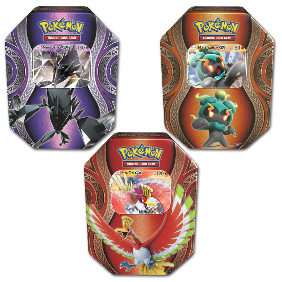 pok mon tin box set 2017 necrozma marshadow ho oh trading cards world of games. Black Bedroom Furniture Sets. Home Design Ideas