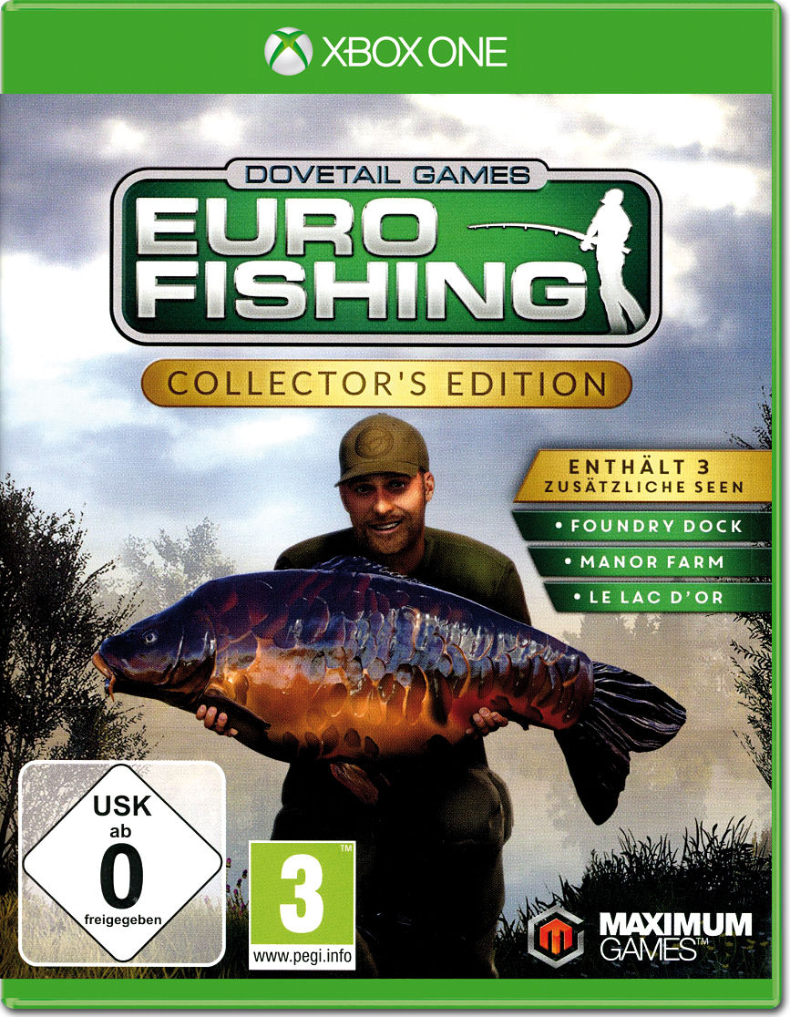 Euro fishing collector 39 s edition xbox one world of games for Xbox one fishing games