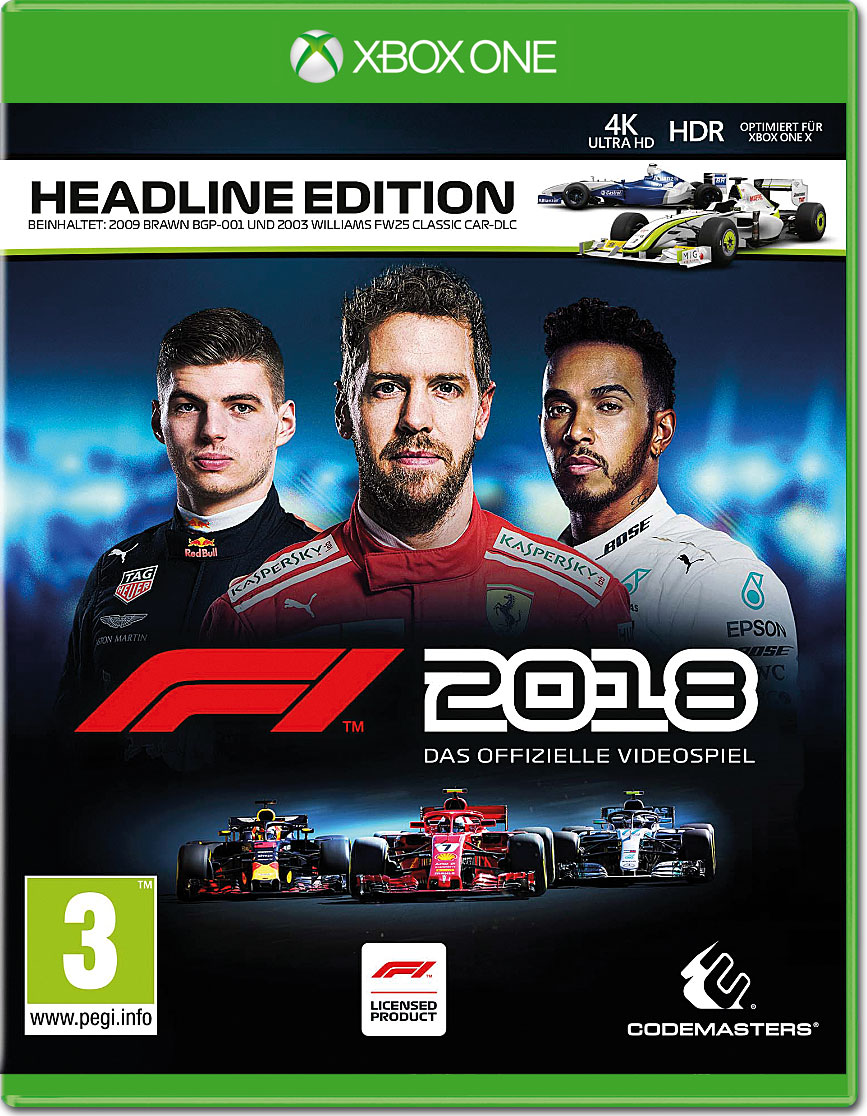 f1 2018 headline edition xbox one world of games. Black Bedroom Furniture Sets. Home Design Ideas