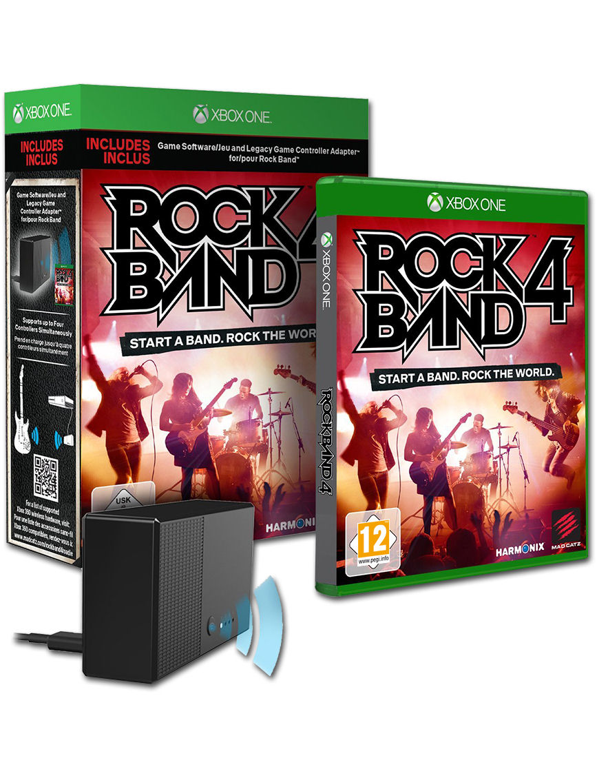 Rock Band 4 (Spiel & Legacy Adapter) [Xbox One] • World of Games