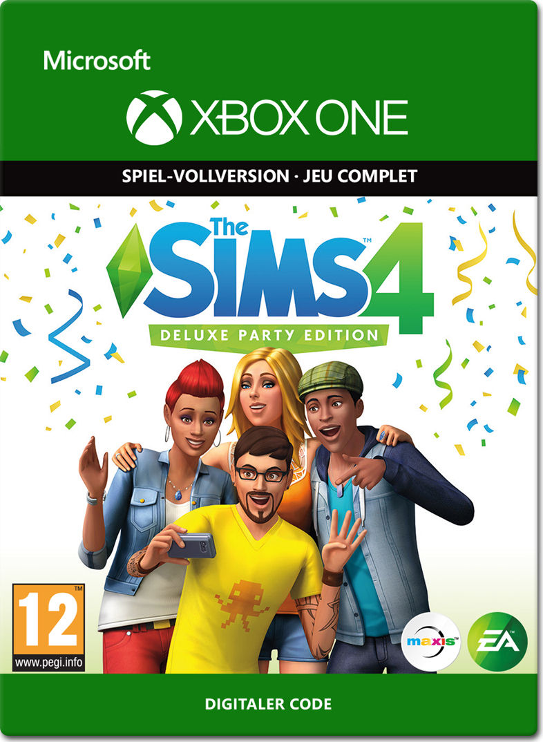 Die Sims 4 Deluxe Party Edition Xbox One Digital World Of Games