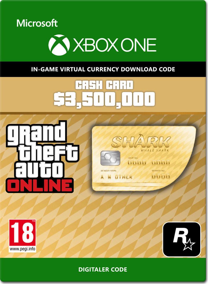 Grand Theft Auto 5: Whale Shark 3'500'000 Cash Card [Xbox
