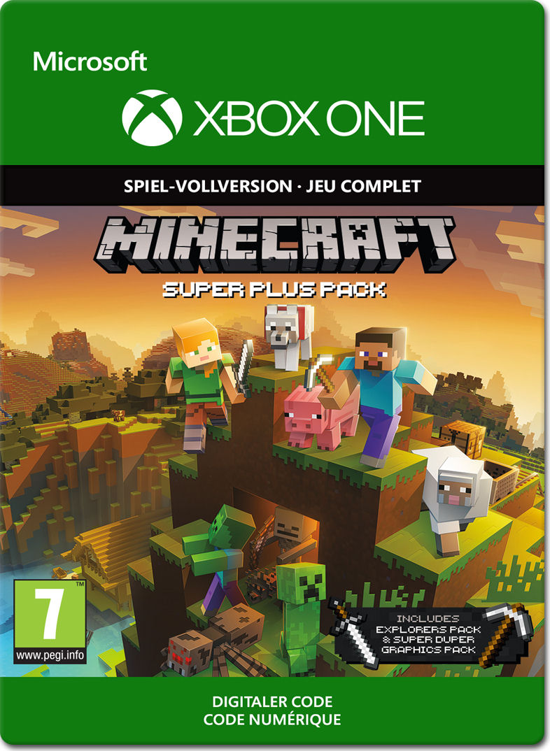 Minecraft Super Plus Pack Edition Xbox OneDigital World Of Games - Minecraft pc spiel vollversion kostenlos
