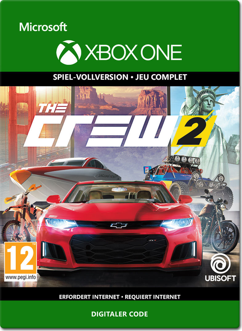 the crew 2 xbox one digital world of games. Black Bedroom Furniture Sets. Home Design Ideas