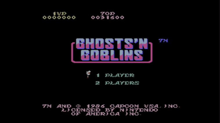 "Screenshot ""Ghosts'n Goblins"""