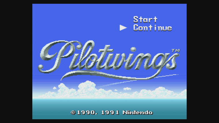 "Screenshot ""Pilotwings"""