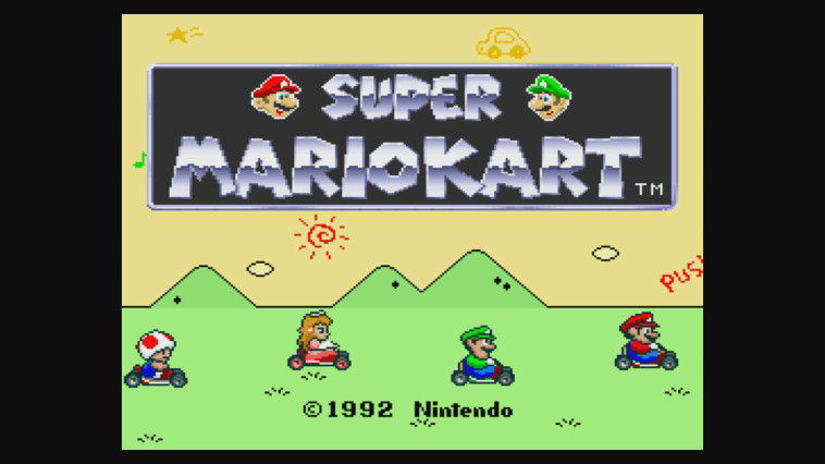 "Screenshot ""Super Mario Kart"""