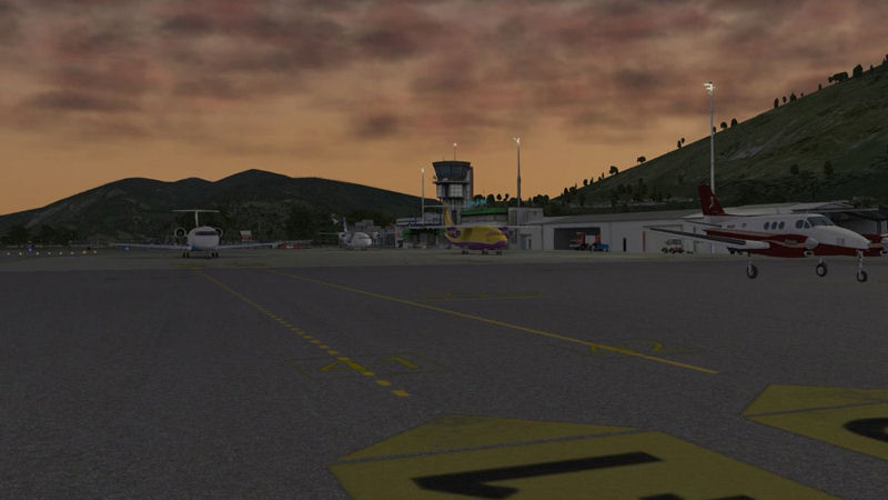"Screenshot ""XPlane 10: Airport Lugano"""