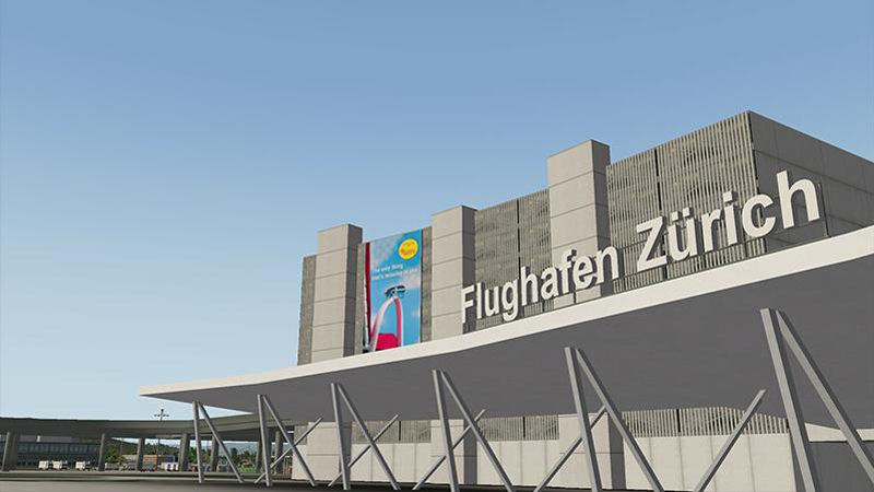 "Screenshot ""X-Plane 10 Add-on: Airport Zürich"""