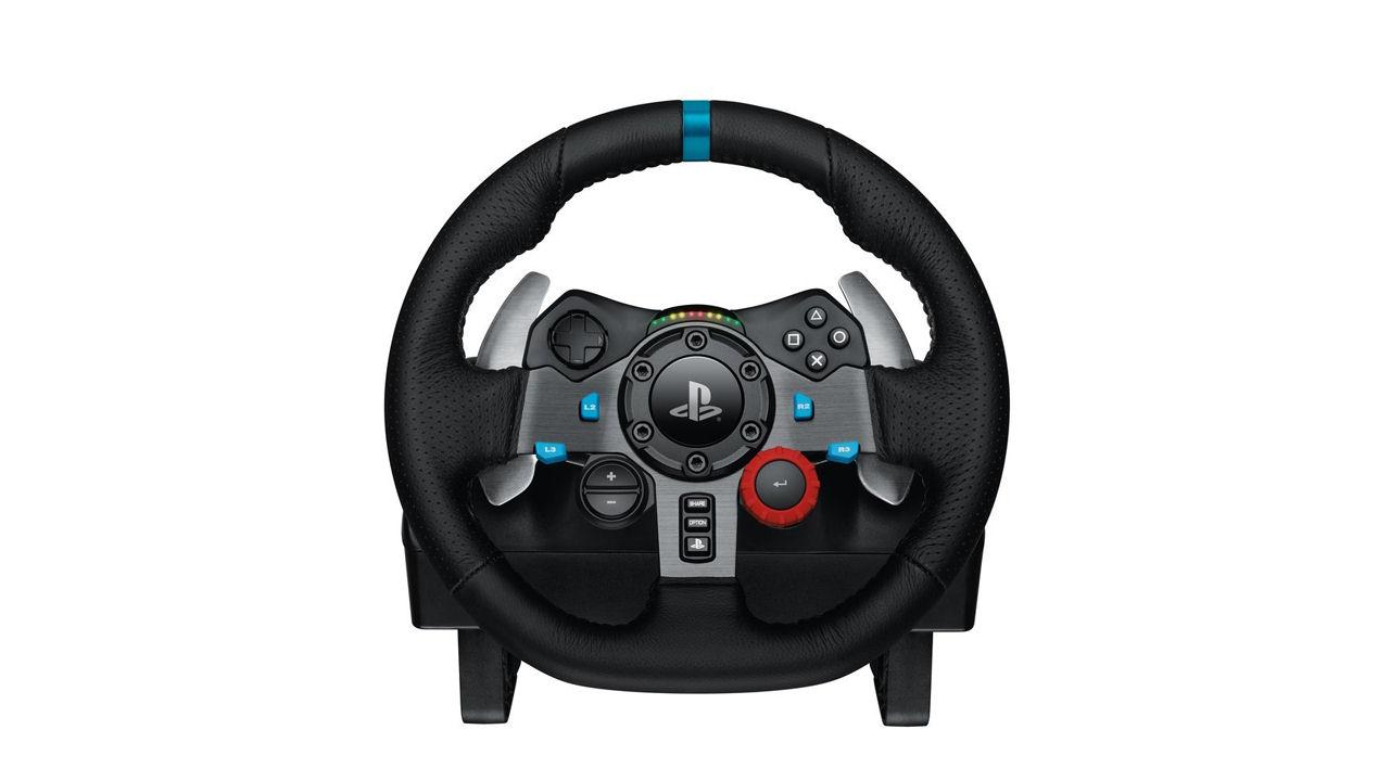 g29 driving force racing wheel logitech playstation 4 world of games. Black Bedroom Furniture Sets. Home Design Ideas