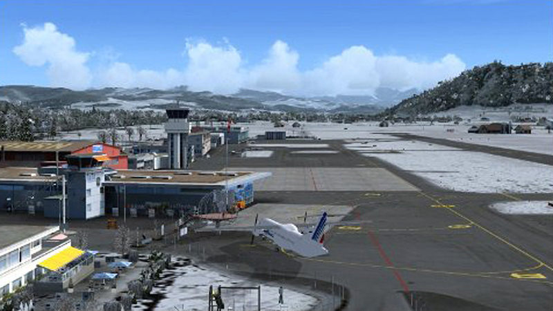 "Screenshot ""Flight Simulator X Add-on: Airport Bern-Belp X"""