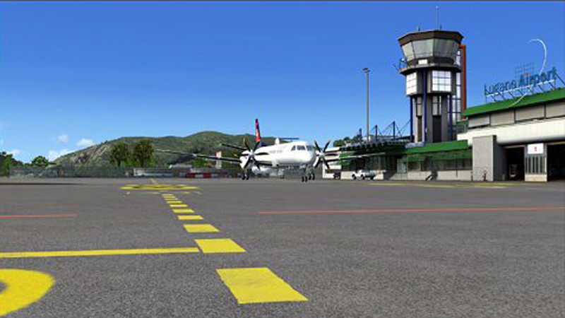 "Screenshot ""Flight Simulator X Add-on: Airport Lugano X"""