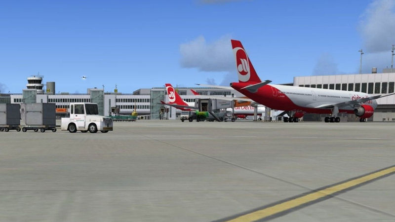 "Screenshot ""Flight Simulator X: Mega Airport Düsseldorf"""