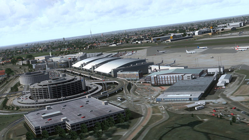 "Screenshot ""Flight Simulator X: German Airports 3 - 2012"""