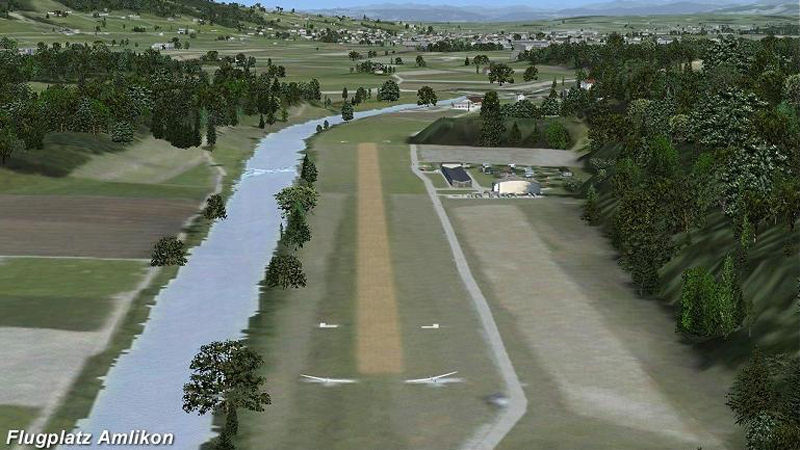 "Screenshot ""Flight Simulator X Add-on: Kleinflugplätze Schweiz Teil 3"""