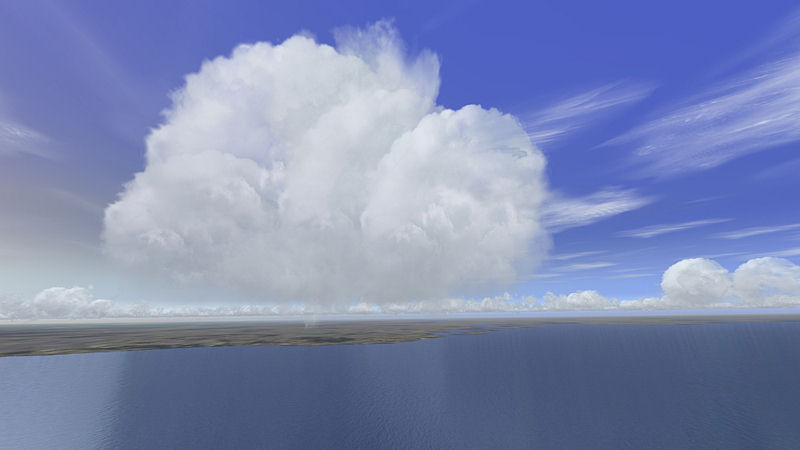 "Screenshot ""Flight Simulator X: Sky & Clouds"""