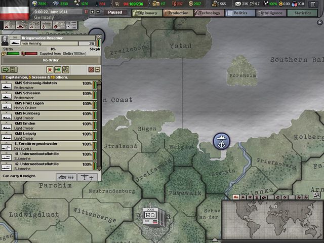 "Screenshot ""Hearts of Iron 3 - Complete Edition"""
