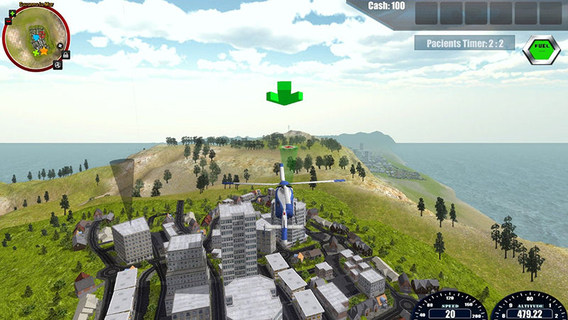 "Screenshot ""Rescue Helicopter Simulator 2014"""