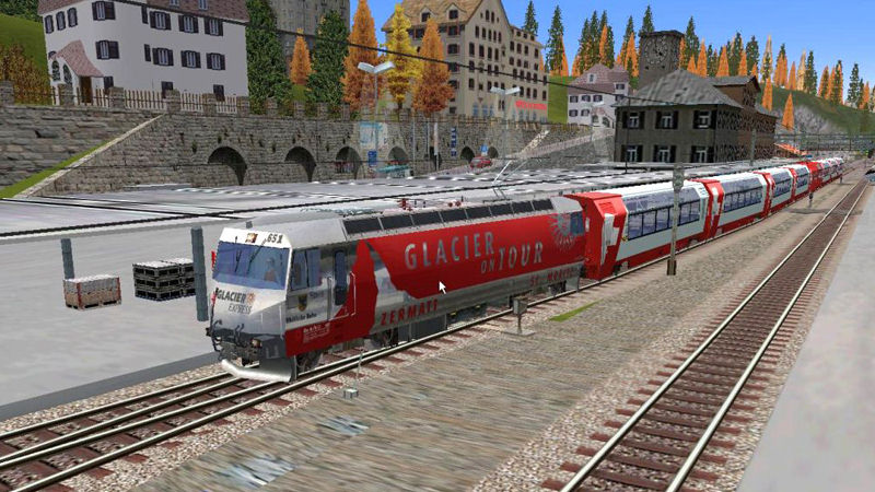"Screenshot ""Microsoft Train Simulator Add-on: Engadin-Express"""