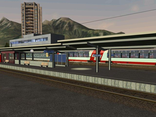 "Screenshot ""Microsoft Train Simulator Add-on: Glacier-Express 2"""