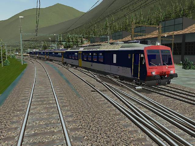 "Screenshot ""Microsoft Train Simulator Add-on: Gotthard Route 2"""