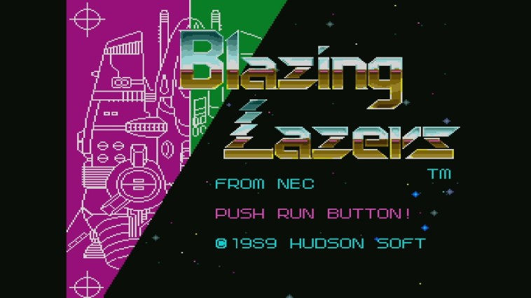 "Screenshot ""Blazing Lazers"""