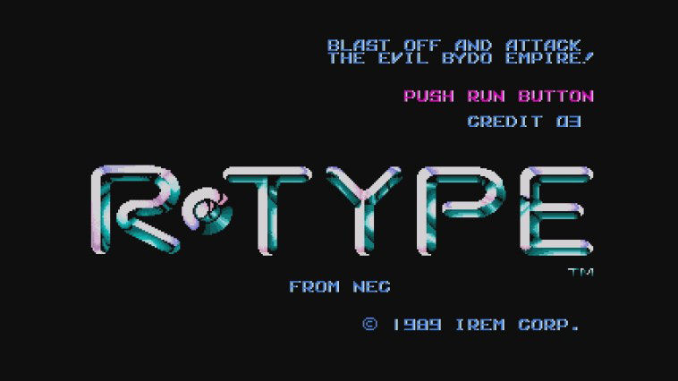 "Screenshot ""R-Type"""
