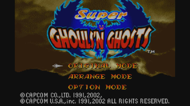 "Screenshot ""Super Ghouls'n Ghosts -GBA-"""