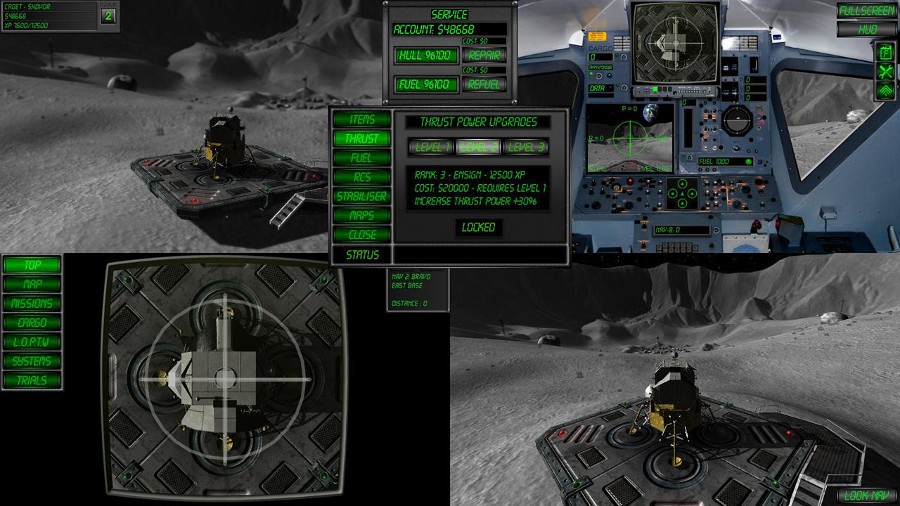"Screenshot ""Lunar Flight"""
