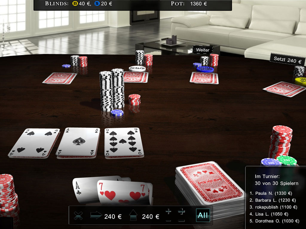 "Screenshot ""The Royal Club: Poker 2017 Edition"""