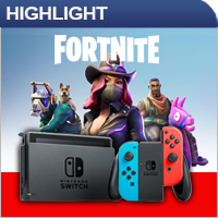 Nintendo Switch - Fortnite Set -Red/Blue-