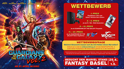 Guardians of the Galaxy 2 Gewinnspiel