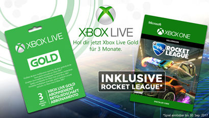 Xbox Live Prepaid Abo 3 Monate + gratis Rocket League