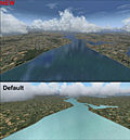 "Screenshot ""Flight Simulator X Add-on: Water & Clouds"""
